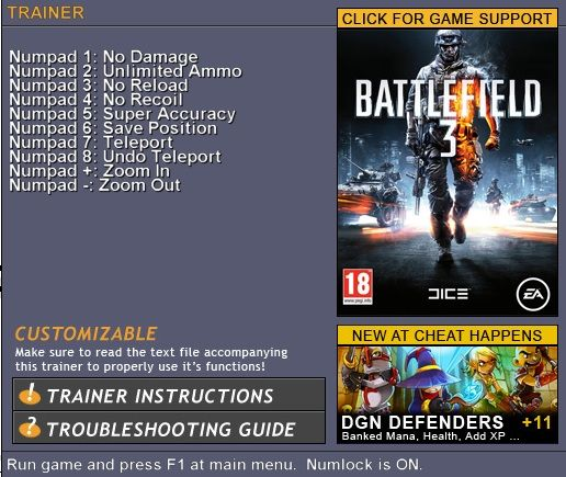 Screens Zimmer 9 angezeig: trainer battlefield 2
