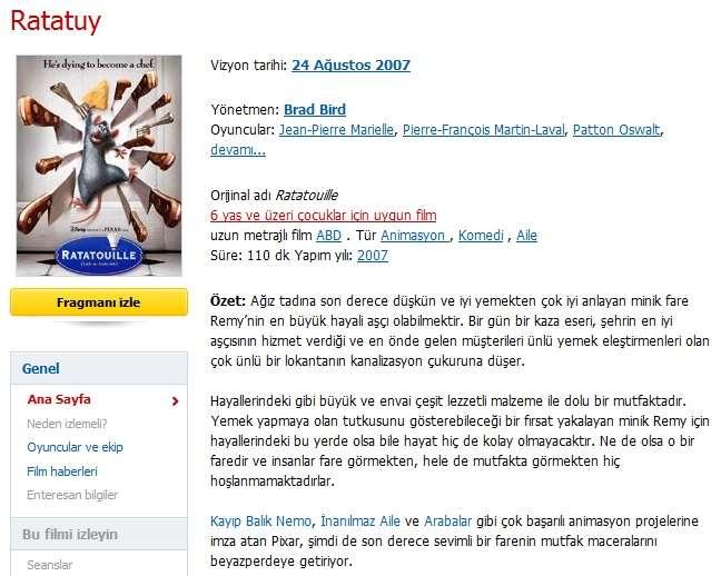 Ratatuy - 2007 BDRip XviD - Türkçe Dublaj Tek Link indir